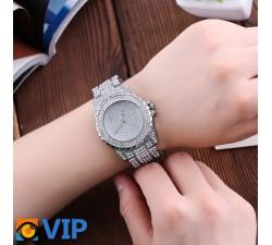 Reloj Bling Plateado
