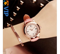 Reloj Piedras Rosa